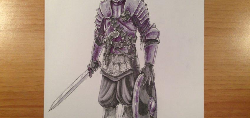 Character Design: Guerriero Fantasy Corazzato